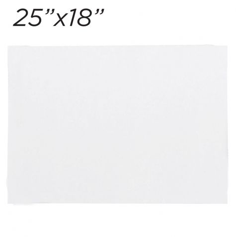 25x18 White Rectangle Coated Cakeboard, 6 ct