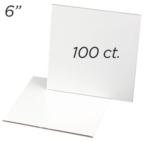 """Cakeboard Square 6"""", 100 ct"""