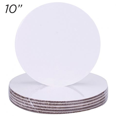 "10"" Round Coated Cakeboard, 6 ct"