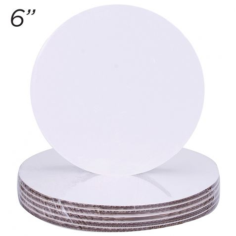 """6"""" Round Coated Cakeboard, 12 ct"""