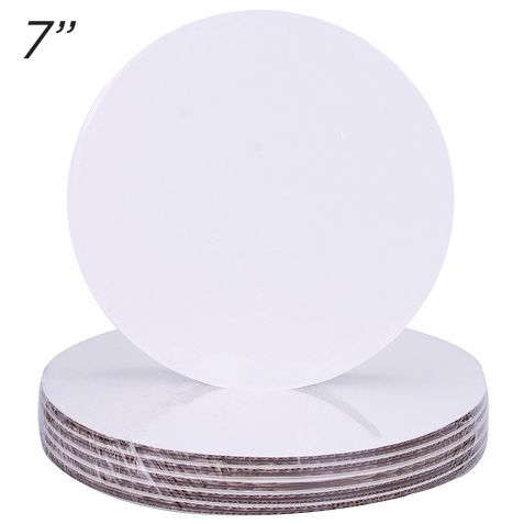 """7"""" Round Coated Cakeboard, 25 ct"""