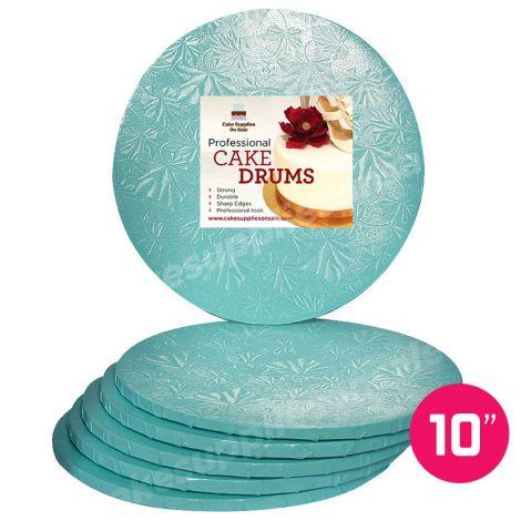 "10"" Blue Round Drum 1/2"", 6 count"