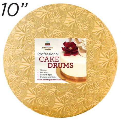 """10"""" Gold Round Thin Drum 1/4"""""""