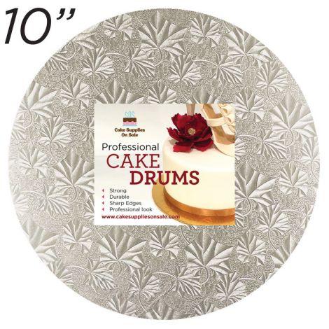 """10"""" Silver Round Thin Drum 1/4"""""""
