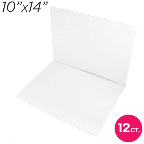 """10""""x14"""" White Cakeboard, 12 ct. - 2 mm thick"""