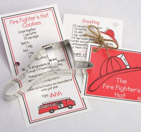 Fire Fighter's Hat Cookie Cutter