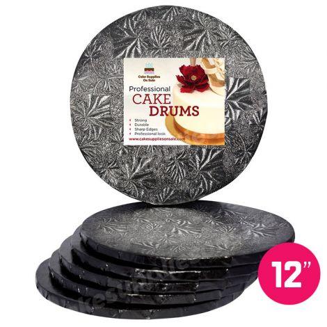 """12"""" Black Round Drum 1/2"""", 6 count"""