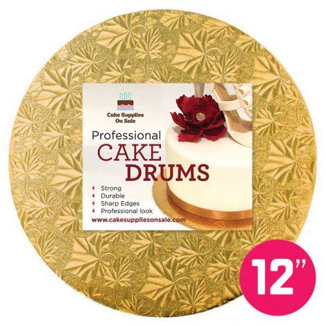 """12"""" Gold Round Drum 1/2"""""""