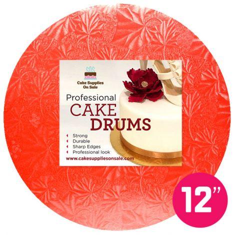 """12"""" Red Round Drum 1/2"""""""