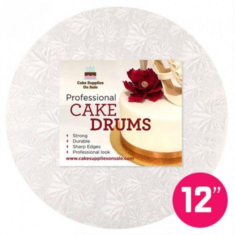 """12"""" White Round Drum 1/2"""""""