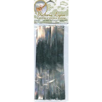 "Silver 6"" Twist Tie (6pk of 80)"