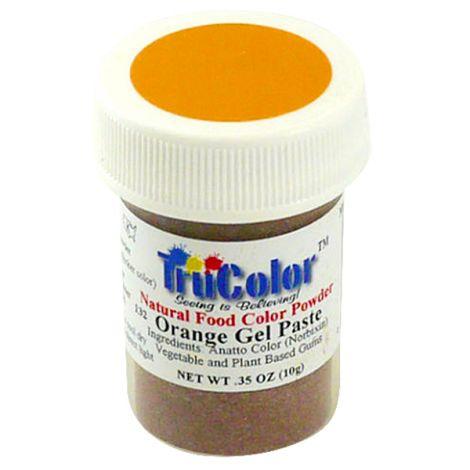 TruColor Natural Orange Gel Paste Powder Color, 9g