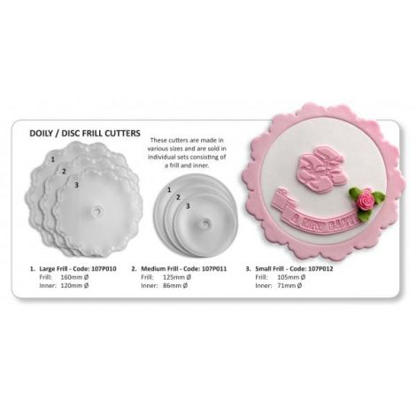 Large Frill (Doily 160 & Disc 120mm)