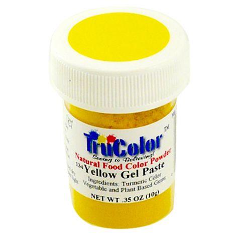 TruColor Natural Yellow Gel Paste Powder Color, 8g