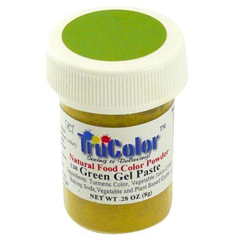 TruColor Natural Green Gel Paste Powder Color, 8g