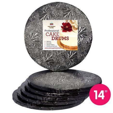 """14"""" Black Round Drum 1/2"""", 6 count"""