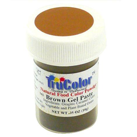 TruColor Natural Brown Gel Paste Powder Color, 9g