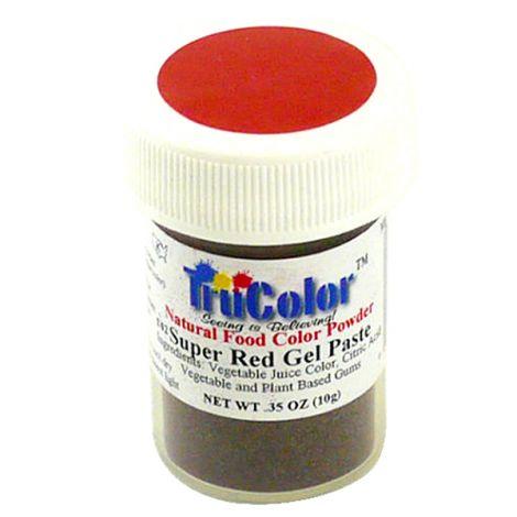 TruColor Natural Super Red Gel Paste Powder Color, 9g