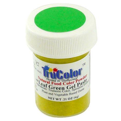 TruColor Natural Leaf Green Gel Paste Powder Color, 6g