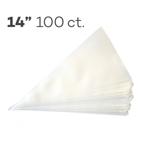 """Piping Bags 14"""", Pack of 100"""