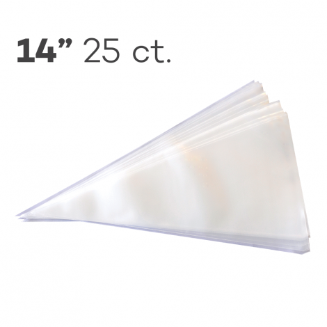 """Piping Bags 14"""", Pack of 25"""