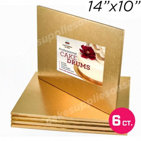 "14x10 Gold Drum, 1/2"", 6 count"