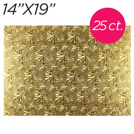 """14x19 Gold Thin Drum 1/4"""", 25 count"""