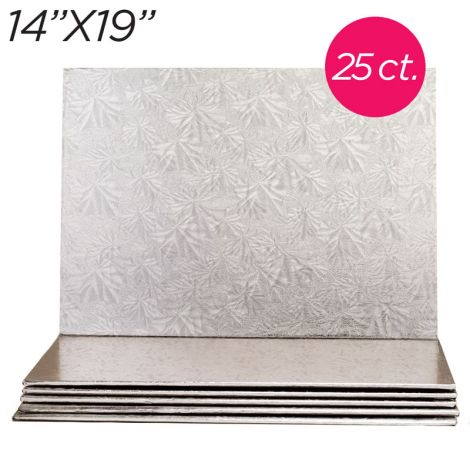"""14x19 Silver Thin Drum 1/4"""", 25 count"""