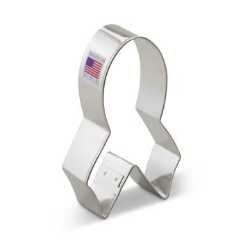 """Cookie Cutter Cancer Ribbon 4"""""""