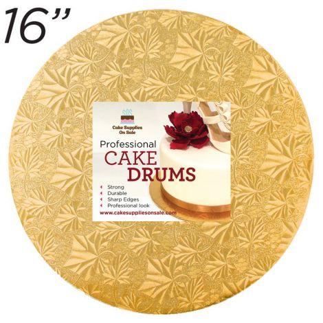 """16"""" Gold Round Thin Drum 1/4"""""""