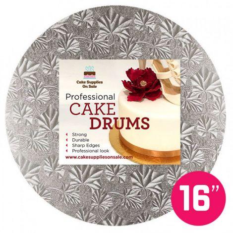 """16"""" Silver Round Drum 1/2"""""""