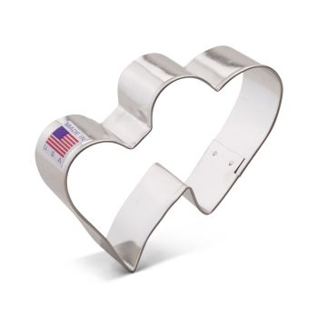 Cookie Cutter Double Heart 3.75""