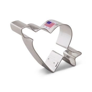 Cookie Cutter Heart with Arrow 3.5""