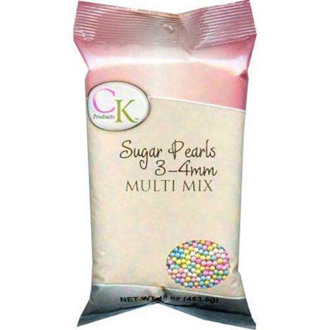 Sugar Pearls 3-4mm - Multi, 16 oz