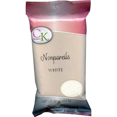 16 Oz Non-Pareils White