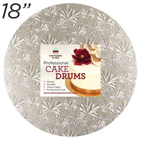 """18"""" Silver Round Thin Drum 1/4"""""""