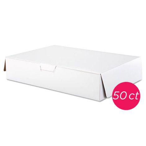 19x14x4 1/2 White Cake Box 50 ct