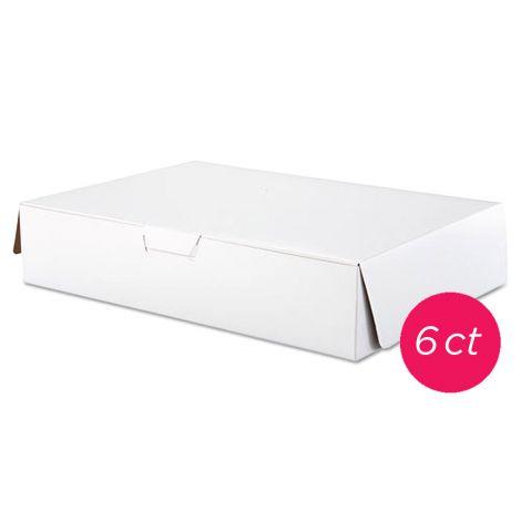 19x14x4 1/2 White Cake Box 6 ct
