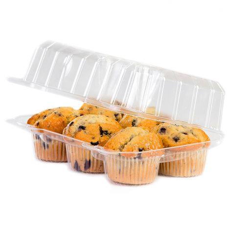 1/2 Dozen Cupcake Container (6 cavities), 25 ct