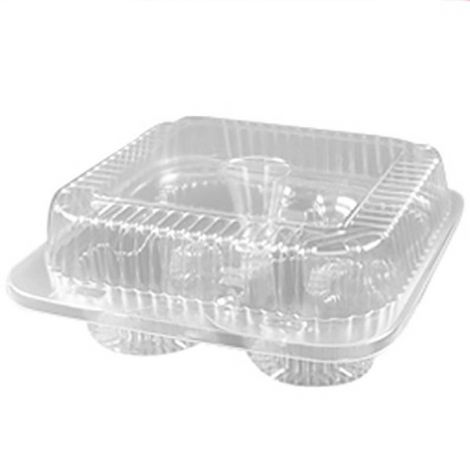 1/3 Dozen Cupcake Container (4 cavities), 100 ct