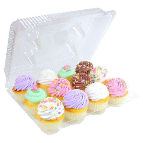 1 Dozen Cupcake Container (12 cavities), 25 ct