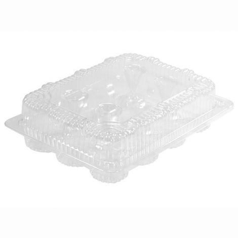 1 Dozen Mini Cupcake Container (12 cavities), 6 ct