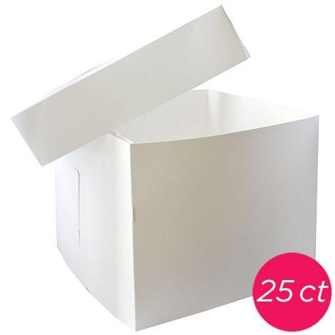 12x12x10 White Box 2 pieces, 25 ct