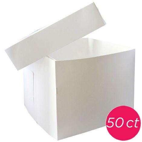 10x10x10 White Box 2 pieces, 50 ct