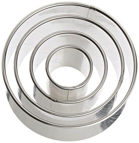 Round Biscuit Cutter Set of 4