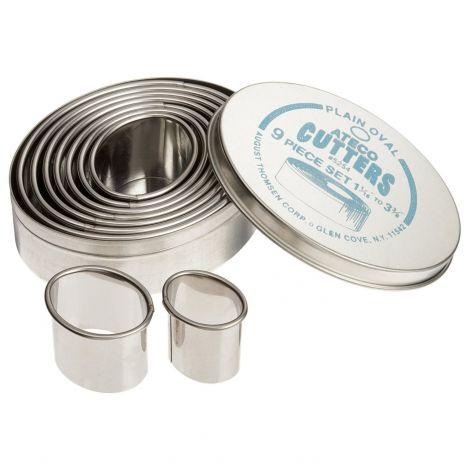 Plain Oval Cutter Set 9 pc