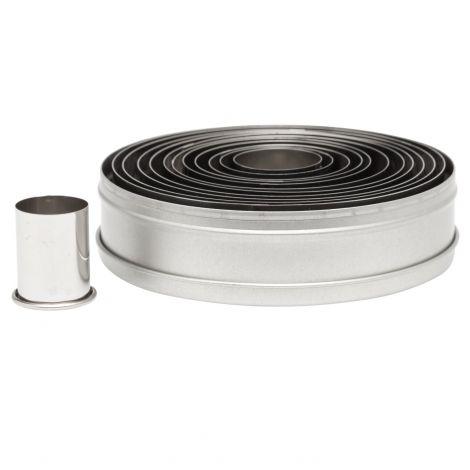Plain Round Cutter Set 12 pc