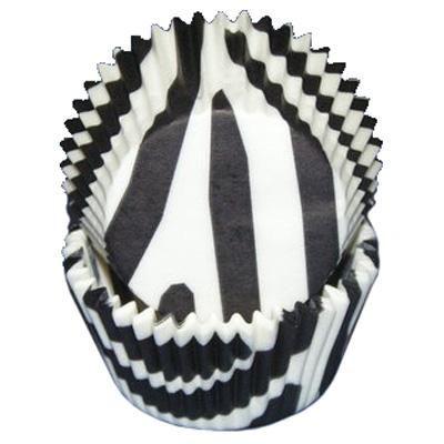 Zebra Stripe Baking Cups