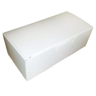1/2# White Candy Box 25 pc