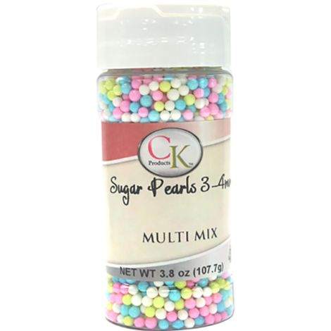 Multi 3-4mm Sugar Pearls 3.6 OZ